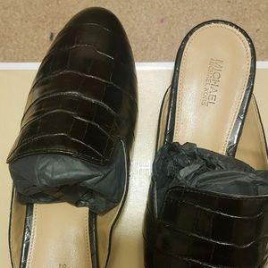 Michael Kors Embossed Leather Slides